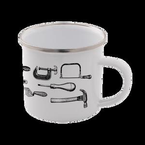 Tools Enamel Mug – White