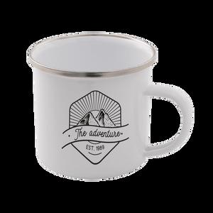 The Adventure Enamel Mug – White