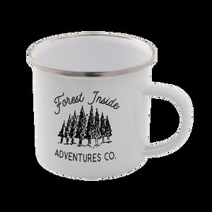 Forest Inside Adventures Co. Enamel Mug – White