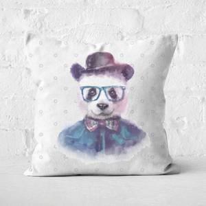 Hipster Panda Square Cushion