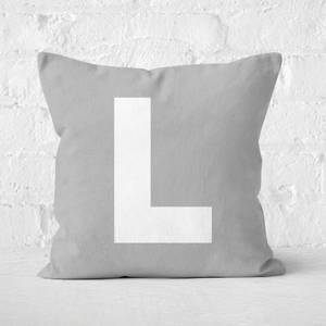 Letter L Square Cushion