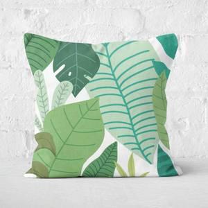Leafy Pattern Square Cushion