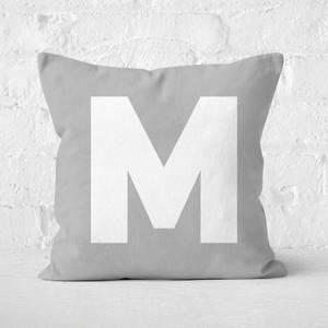 Letter M Square Cushion