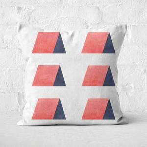 Aztec Triangle Huts Square Cushion