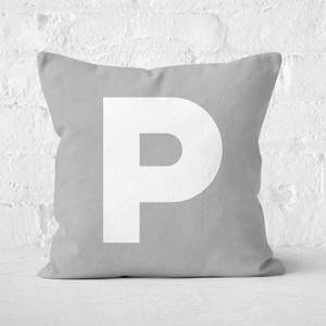 Letter P Square Cushion