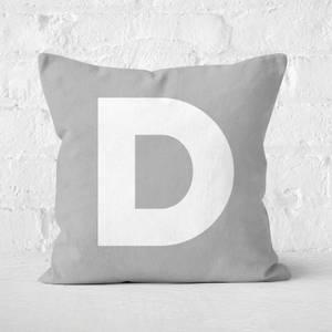 Letter D Square Cushion
