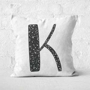 Handwritten K Square Cushion