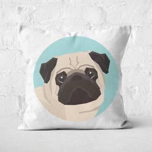 Pug Square Cushion