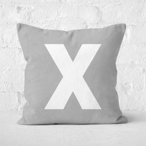 Letter X Square Cushion