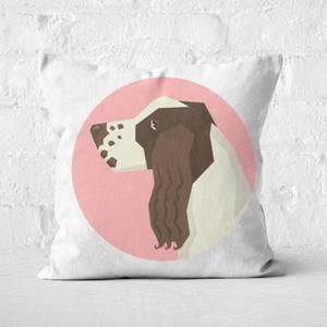 Springer Spaniel Square Cushion
