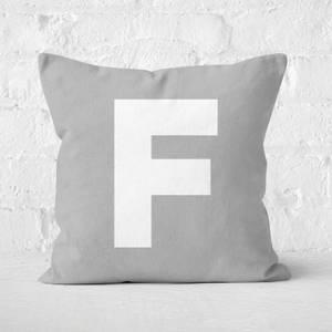 Letter F Square Cushion