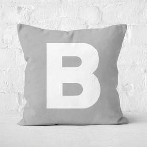 Letter B Square Cushion
