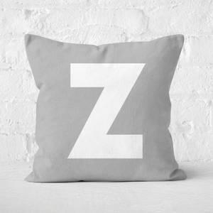 Letter Z Square Cushion