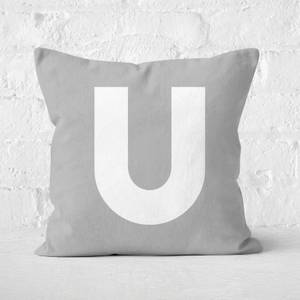 Letter U Square Cushion