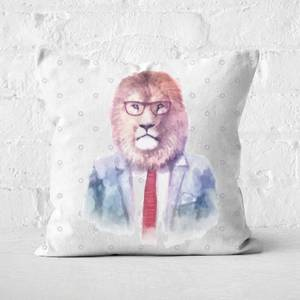 Hipster Lion Square Cushion