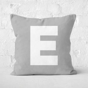 Letter E Square Cushion