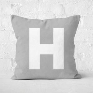 Letter H Square Cushion