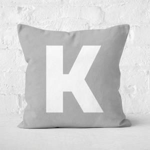 Letter K Square Cushion