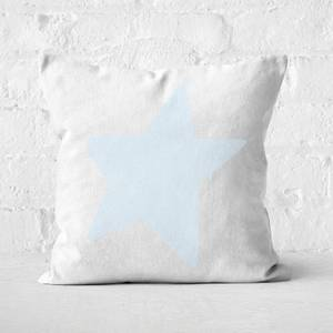 Light Blue Star Square Cushion