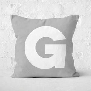Letter G Square Cushion