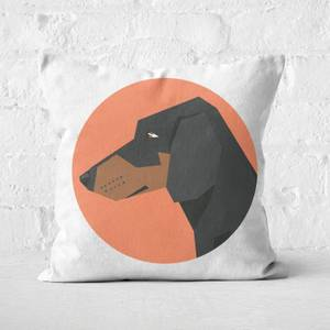 Sausage Dog Square Cushion