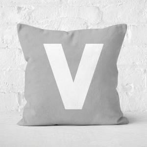 Letter V Square Cushion