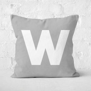 Letter W Square Cushion