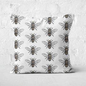 Bee Pattern Square Cushion