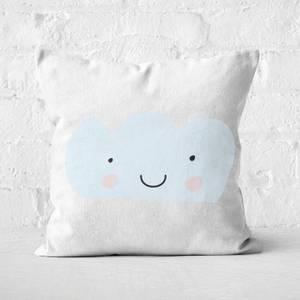 Light Blue Cloud Square Cushion