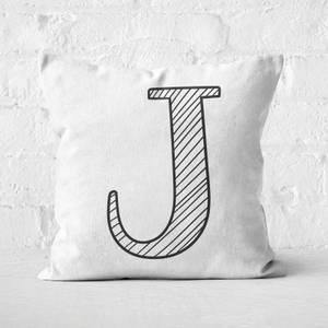 Handwritten J Square Cushion