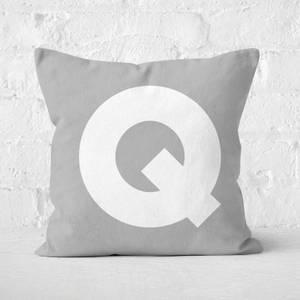 Letter Q Square Cushion