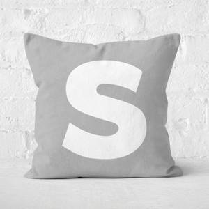 Letter S Square Cushion