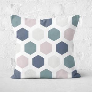 Hexagons Square Cushion