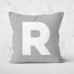 Letter R Square Cushion