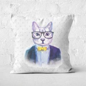 Hipster Cat Square Cushion