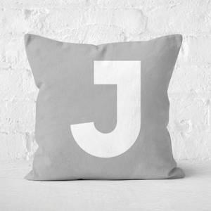 Letter J Square Cushion