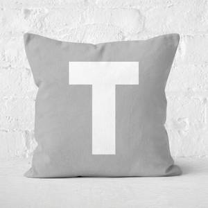 Letter T Square Cushion