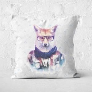 Hipster Fox Square Cushion