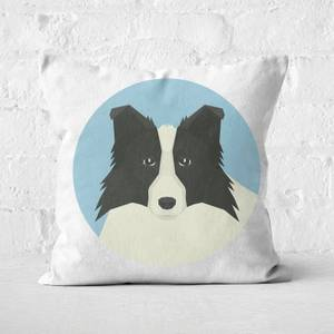 Boarder Collie Square Cushion