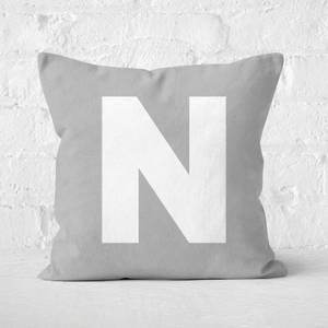 Letter N Square Cushion