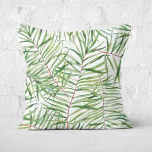 Tropical Leaves Square Cushion