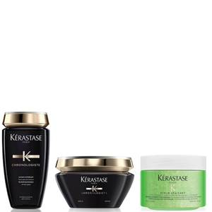 Kérastase Chronologiste Revitalising Shampoo, Masque and Soothing Scrub Trio