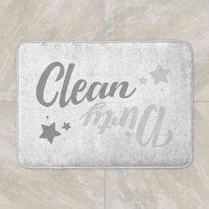 Clean Dirty Bath Mat