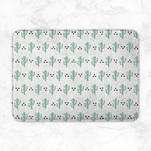 Green Cactus Pattern Bath Mat