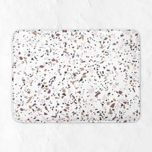 Neutral Terrazzo Pattern Bath Mat