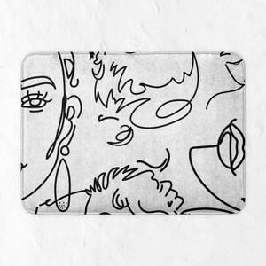 Line Drawing Bath Mat