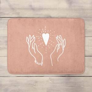 Hands And Heart Bath Mat