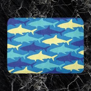 Shark Pattern Bath Mat