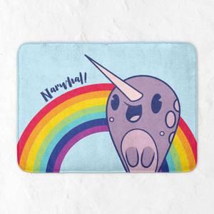 Narwhal Rainbow Bath Mat