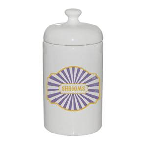 Shrooms Ceramic Jar